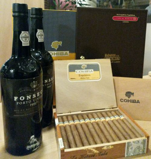 Cohiba Exquisitos Januar 2001 und Fonseca Vintage Port 1997