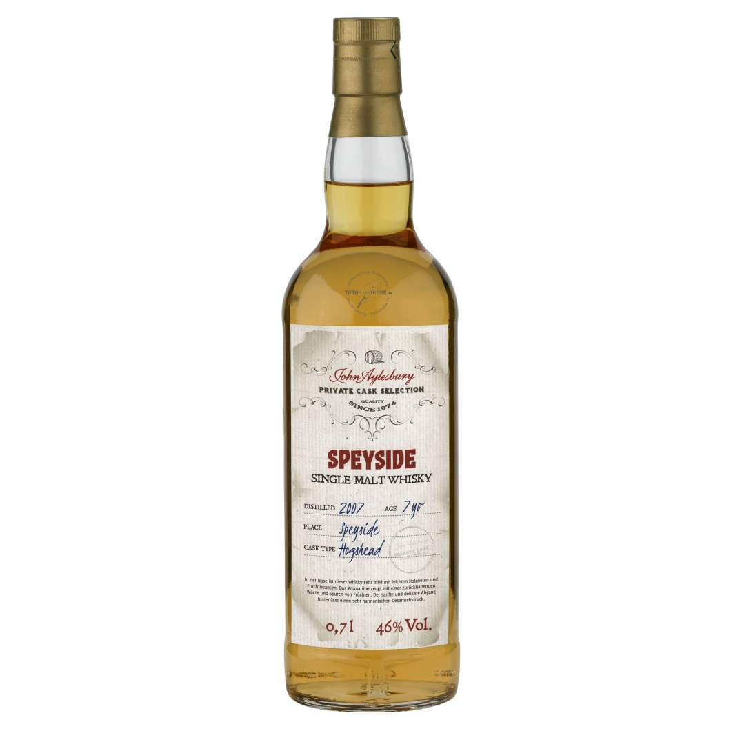John Aylesbury Private Cask Selection Speyside-Destillery 2007 7 yo