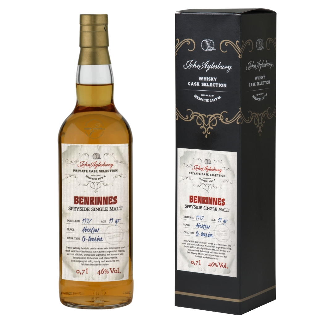 John Aylesbury Private Cask Selection Benrinnes 1997 19 yo