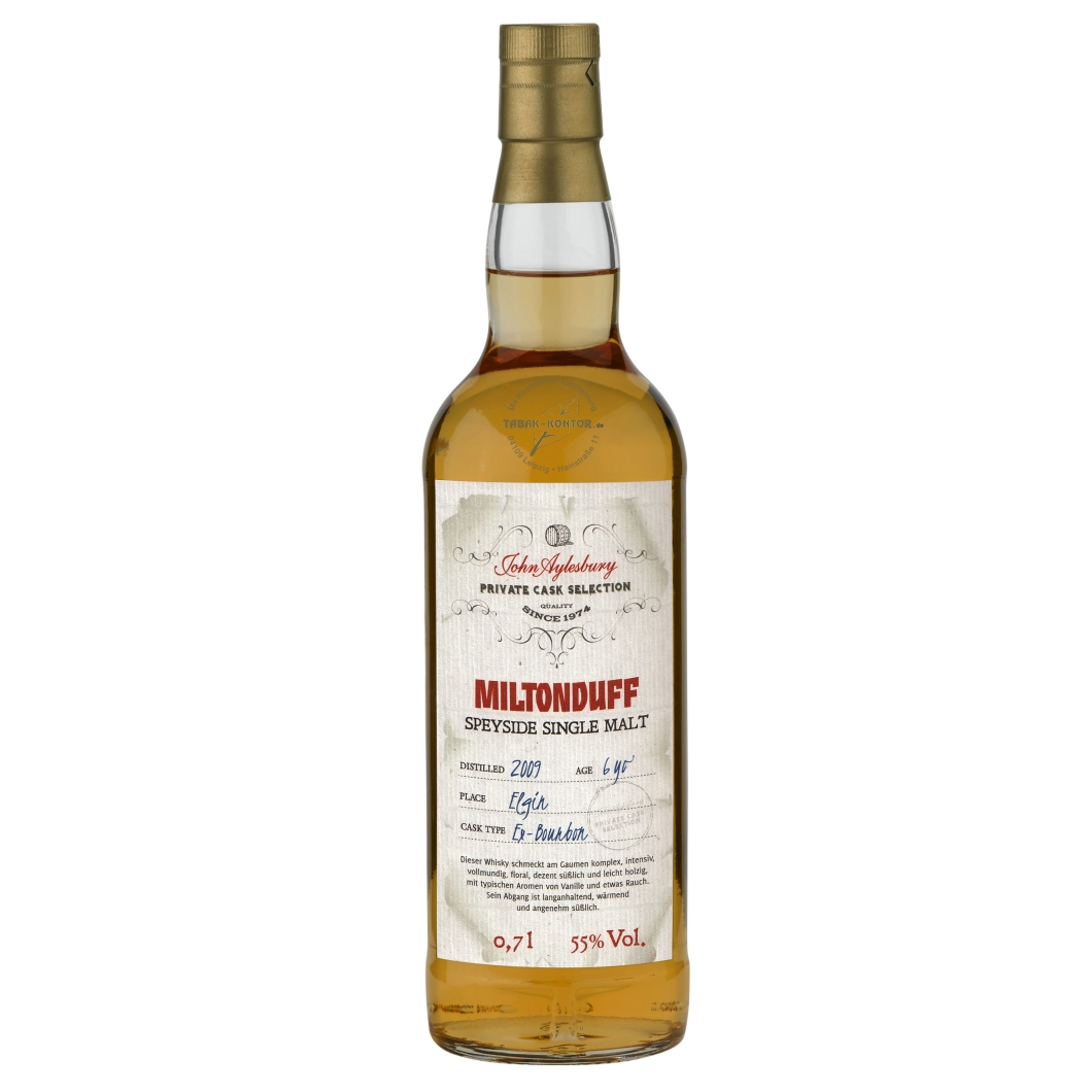 John Aylesbury Private Cask Selection Miltonduff 2009 6 yo Cask Strength