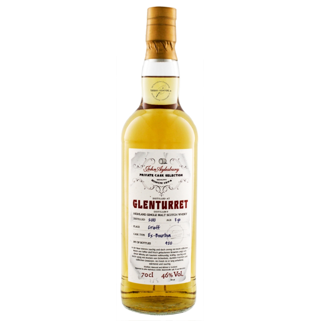 John Aylesbury Private Cask Selection Glenturret Heavily Peated 2010 8 yo