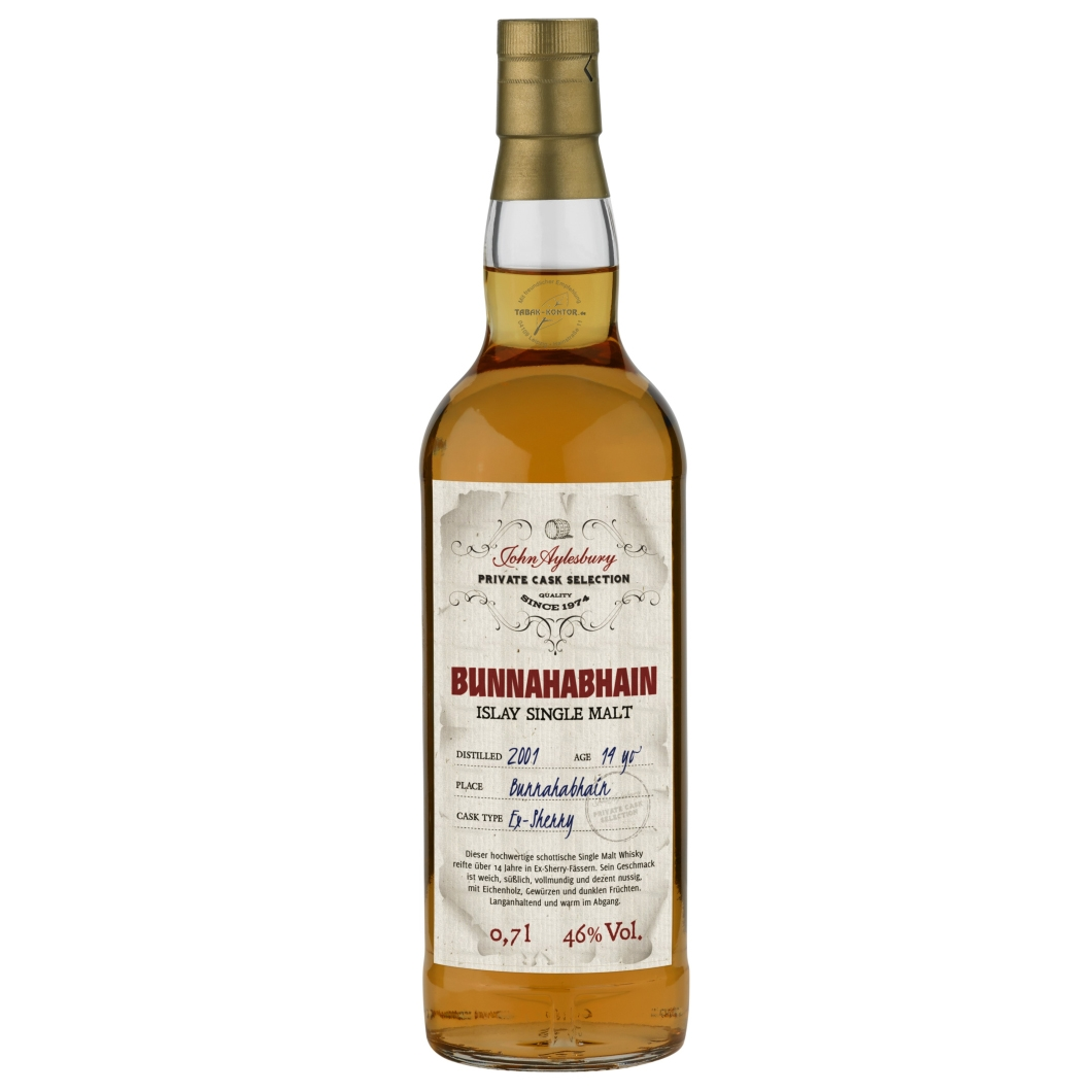 John Aylesbury Private Cask Selection Bunnahabhain 2001 14 yo