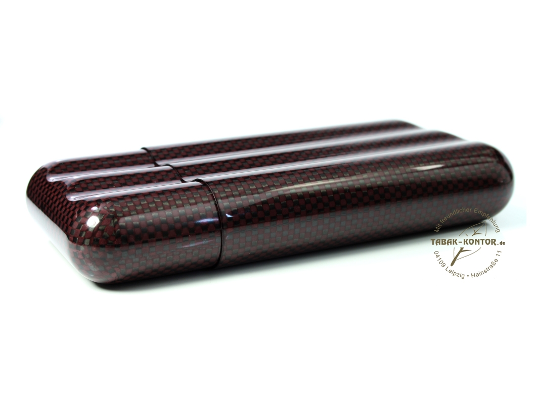 Magic 3er Carbon-Etui bordeaux Robusto/Churchill
