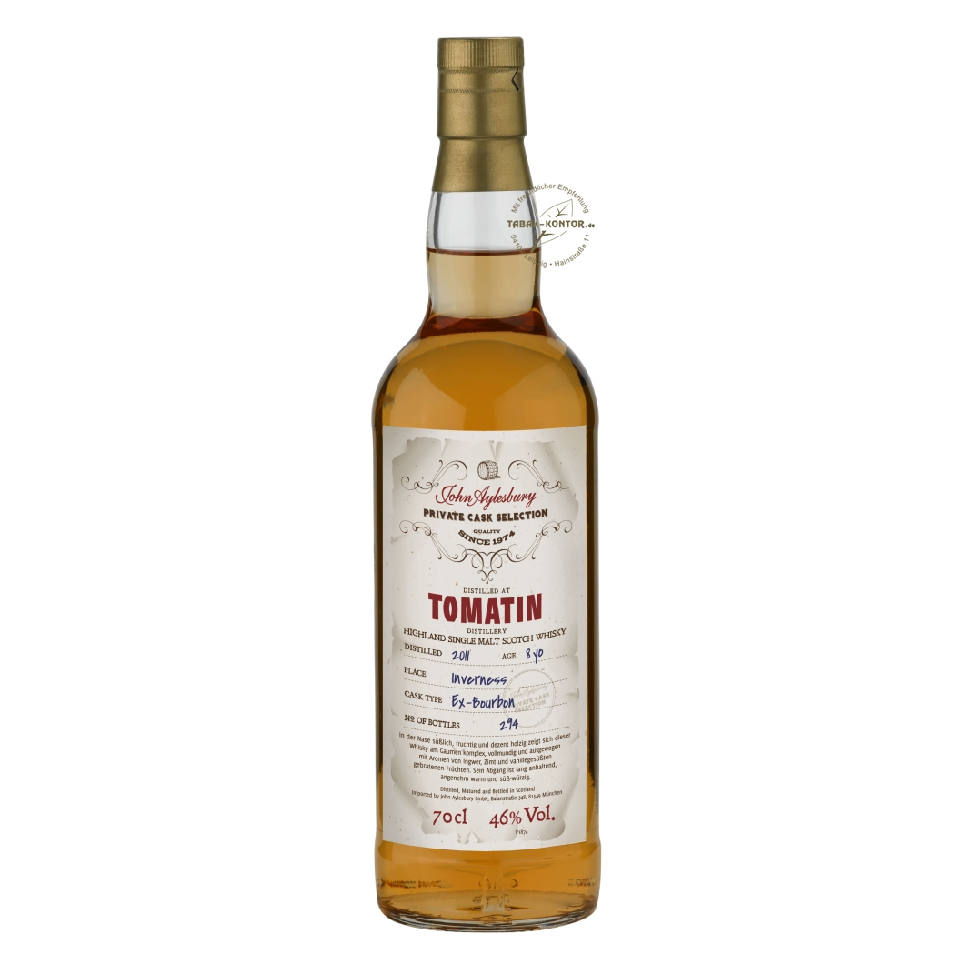 John Aylesbury Private Cask Selection Tomatin 2011 8 yo
