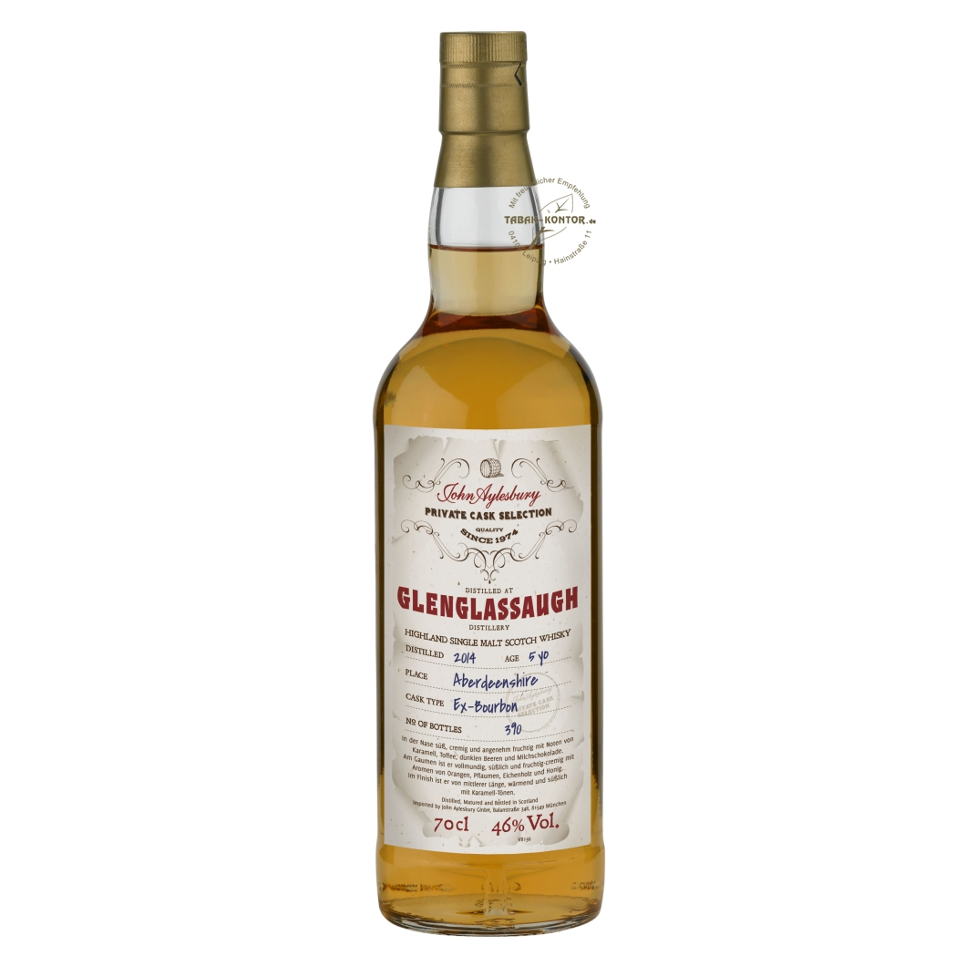 John Aylesbury Private Cask Selection Glenglassaugh 2014 5 yo